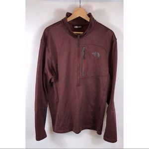 Men's The North Face 1/2 Zip Fleece Maroon XL